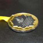 Медаль акриловая д80 на печатной ленте 24мм
