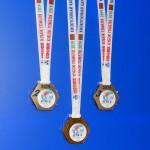 Медаль акриловая д80 с 3д вставкой на печатной ленте 24мм